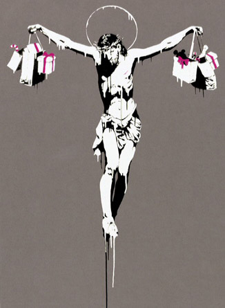 banksy crucifixion