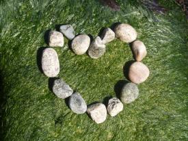 pebbles heart